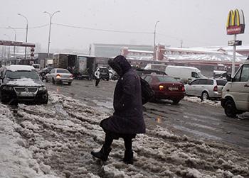 В Харькове прошла снежная буря