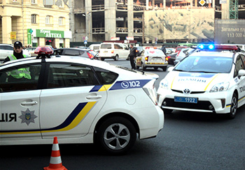 Как работают видеокамеры украинских полицейских