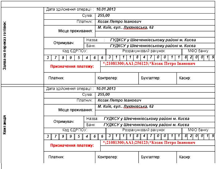 Новый порядок уплаты штрафов ПДД с примером заполнения квитанции